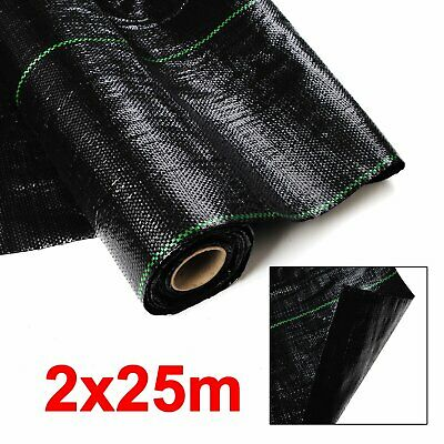 2x25M 100g Weed Control Fabric for Garden Landscape Ground Cover Membrane Mulch