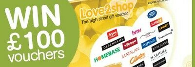 Love To Shop Voucher mystery gift envelope ??? £100 in prizes/gifts