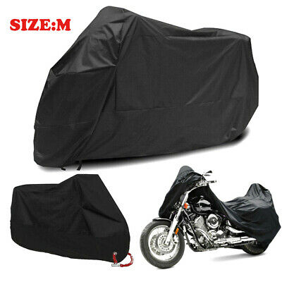 Motorcycle Rain Cover Motor Bike Scooter Dust UV Resist Waterproof w/Lock-hole M