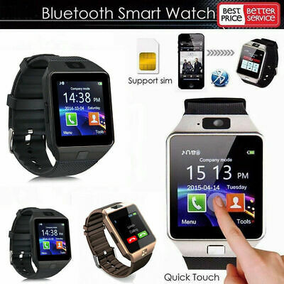 LATEST DZ09 Bluetooth Smart Watch Camera SIM Slot For Samsung Android Phone CHH