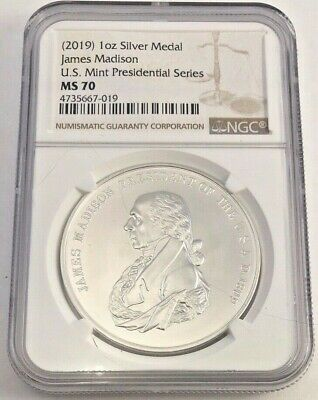 2019 Silver James Madison Presidential Series NGC MS70 (7019)