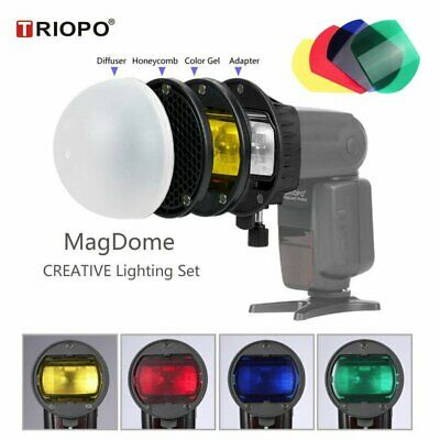 TRIOPO Flash Diffuser Honeycomb Nest Color Magnetic Speedlight Band Omnibounce