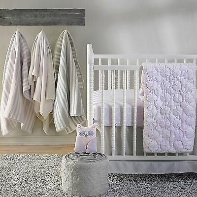 Baby Girls Mauve Pinwheel Nursery Cot Quilt Coverlet Cocalo Crib Bedding
