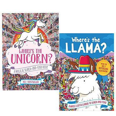 Paul Moran Where's the Unicorn,Where's the Llama  Whole  2 Books Collection Set
