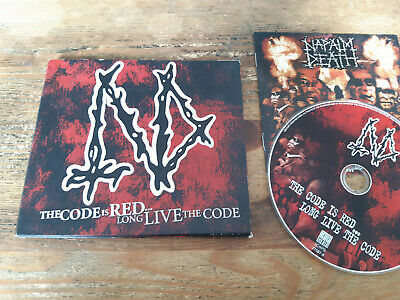 CD Metal Napalm Death - The Code Is Red - Long Live (16 Song) CENTURY MEDIA digi