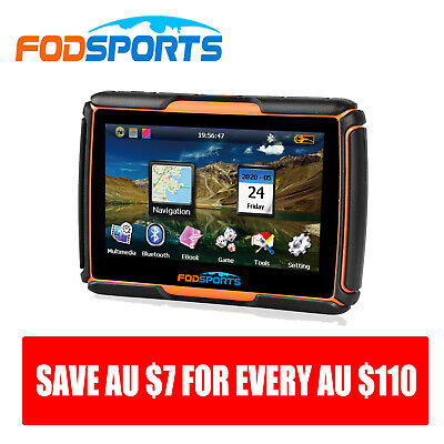 "4.3"" Car Motorbike GPS 8GB SAT NAV Navigation waterproof Bluetooth Navigator Map"