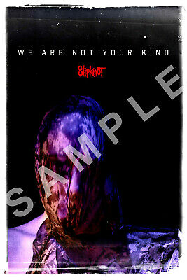 SLIPKNOT 12x18 WE ARE NOT YOUR KIND POSTER BAND IOWA KNOTFEST METAL HAMMER 2