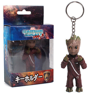 Guardians of the Galaxy Vol.2 Baby Groot Middle Finger KeyChain PVC Figure Toys