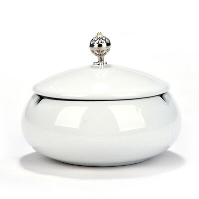 Ceramic Round Ashtray with Lid Beautiful Cigar Ashtray for Home & Office