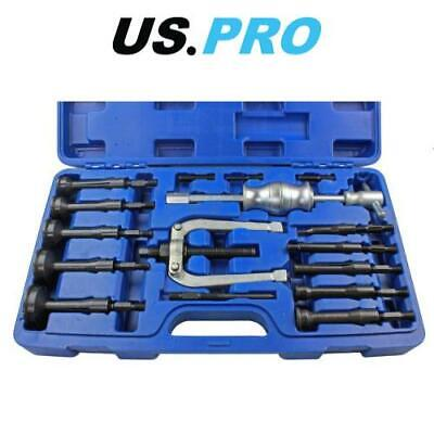 US PRO Bearing Extractor Puller Remover Inner Blind Bearing Removal Set 16pc