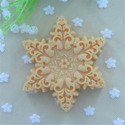 High-Grade Snowflake Design 3D Soap Mold Chocolate Fondant Molds Handmade G1 $m