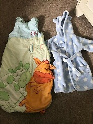 Boys Warm Sleeping Bag 2tog And Dressing Gown Autum/winter