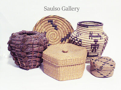 Collection of Early pre 1935 Native American baskets from prominent estate