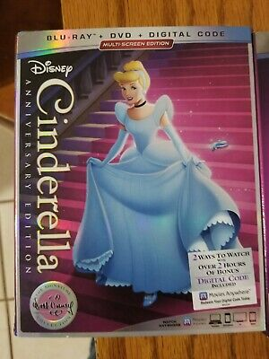 Cinderella Anniversary Edition Blu-Ray, DVD and Digital Code