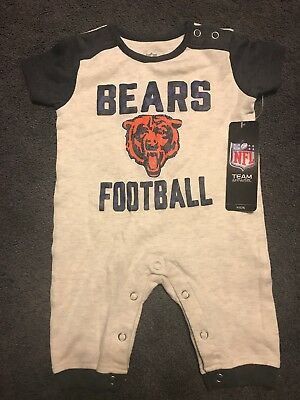 Official NFL Chicago BEARS Shirt Pants Romper MSRP $25 Boys 0-3 Months Newborn