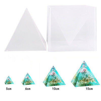 Super Pyramid Silicone Model DIY Resin Craft Jewelry Mold Plastic Frame $m