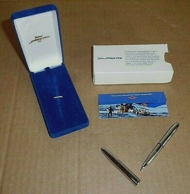 VINTAGE FISHER chrome # 400 SPACE PEN in CASE & sleeve..!!
