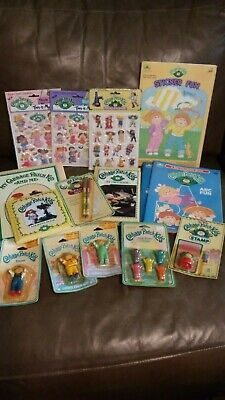 Vintage Lot Cabbage Patch Kids Books, Stickers,Crayons,Stamp,Pencil