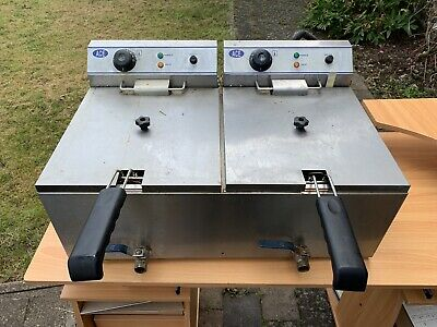 12L Deep Fryer Electric Countertop Dual Tank Fat Fry Commercial Restaurant UK