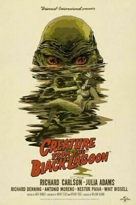 D034 Creature From The Black Lagoon Classic Horror Movie Poster Art Decor