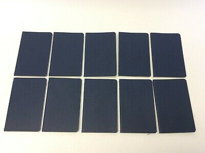 "Lot 10 Unused Moleskine 3.5"" x 5.5"" Softcover Ruled Notebooks Diaries Journals"