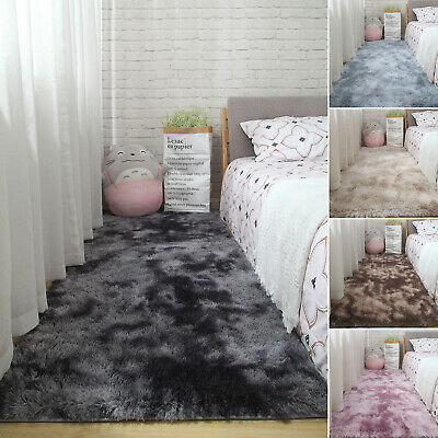 Fluffy Rug Anti-Skid Shaggy Area Rug Dining Room Carpet Floor Mat Home Bedroom X