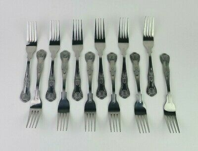 Olympia Kings Dessert Fork - Stainless Steel - Pack of 12 - Cutlery D686 185mm