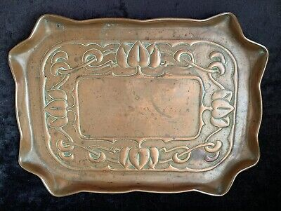 Art Nouveau Eustace Bros Newlyn Copper Tray
