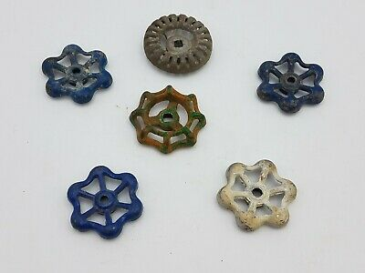 6 pcs Vintage Industrial Metal Outdoor Faucet Hose Bib Handle Knob Steampunk Art
