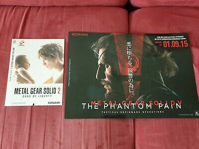 Pamphlet Poster Metal Gear Solid 5 The Phantom Pain