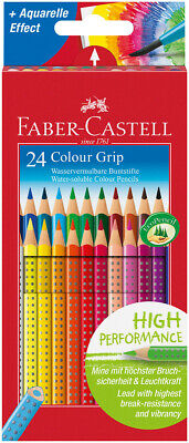 Faber-Castell Colour Grip Pencils - Assorted Colours (Pack of 24)