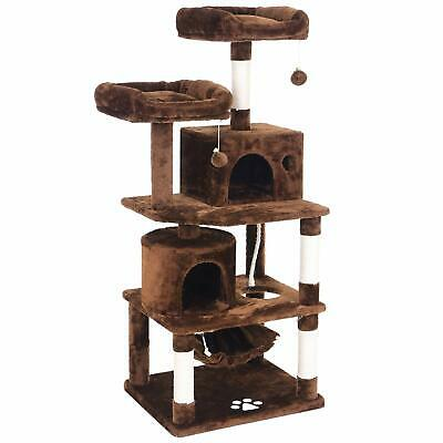 ZNWIYE Multi-Level Cat Tree Condo with Sisal Scratching Posts, Plush Perches,