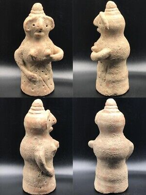 Ancient Indus Valley terracotta decorated Wealth God 2nd millennium BC #A1