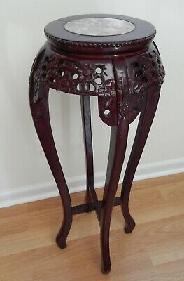 Chinese Flower Stand with marble inset