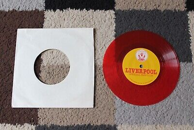 """LIVERPOOL FC Official FAN CLUB 7"""" Red Vinyl Record 1983 Interviews & Commentary"""