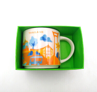 Starbucks You Are Here Collection 14oz YAH City Thailand Coffee Mug Cup Ceramic