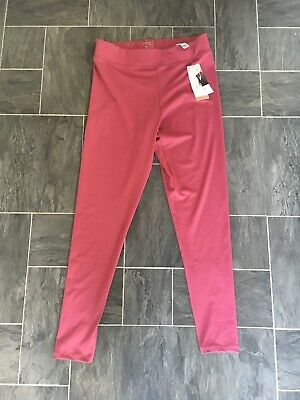 M&S Dark Pink Size 12 Active Sport Stretch Moisture Wicking Leggings Bnwts