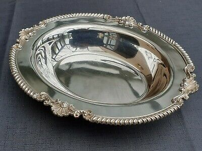 Mappin And Webb Silver Plated Oval Dish. Ornate Rim