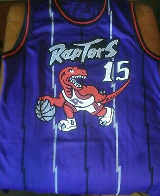 new products 8b93c 92764 AUTHENTIC TORONTO RAPTORS Vince Carter Throwback Basketball ...