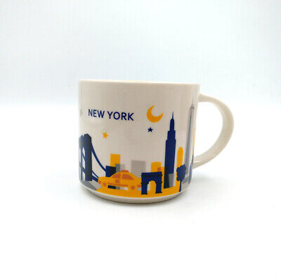 414ml Starbucks City YAH New York You Are Here Collection Coffee Mug Cup in Box