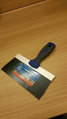 "Warner 8"" ProGrip Blue Steel Drywall Taping Knife, Soft Grip Handle, #90748 Pro"