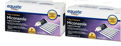 Equate Miconazole 7 Day Treatment Disposable Applicators 7 Ct  2 PACK! FREE SHIP