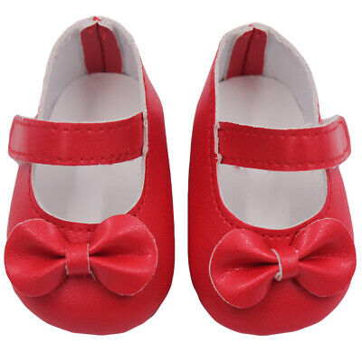 Doll Shoes Strap PU Leather Shoes For 18'' Sharon Dolls Clothing Accessories