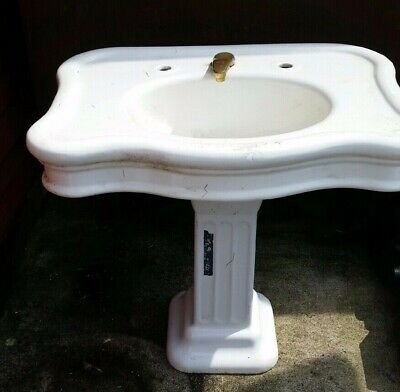 Original Vintage/Antique White Pedestal Sink