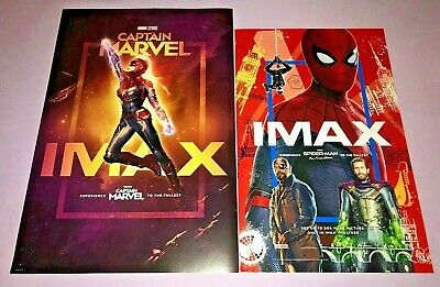 Marvel Captain Marvel & Spider-Man Far From Home Imax Posters  **New**