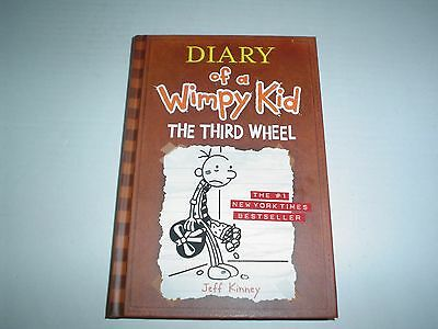 Diary of a Wimpy Kid: The Third Wheel by Jeff Kinney (2012, Hardcover) New
