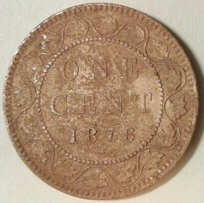 1876H CANADA ONE CENT Coin - Filler / Cull