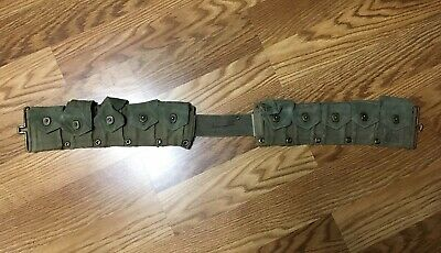 WW2 USGI  M-1 garand cartridge belt 10 pocket