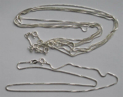 "5 x 16"" .925 sterling silver 1mm thick (approx) box chain necklace chains"