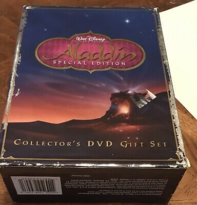 Aladdin (DVD, 2004, 2-Disc Set, Special Edition - Gift Set) Book DVDs Lithograph